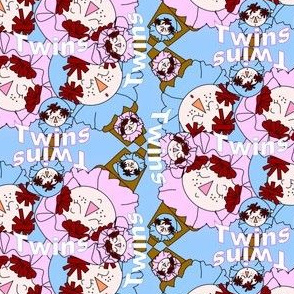 Baby Heads Twins Fabric 3