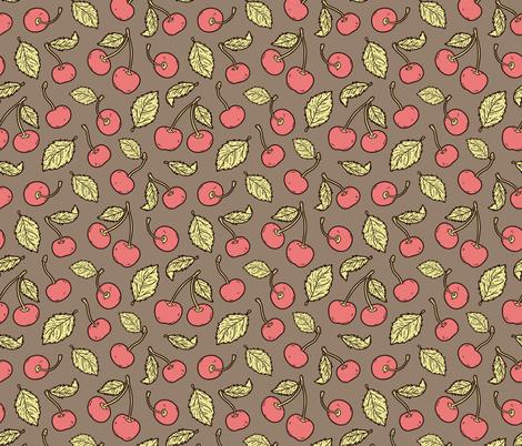 delicate_cherry_pattern fabric by yuliia_studzinska on Spoonflower - custom fabric