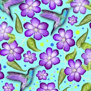 Colibri&Clematis (Purple)