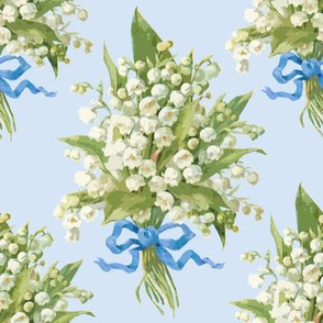 Muguet on blueberry