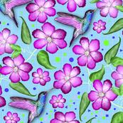 Colibri&Clematis (Pink)