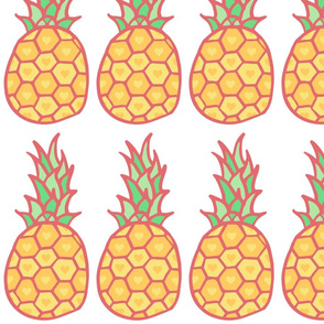 Pineapple Hearts Yellow