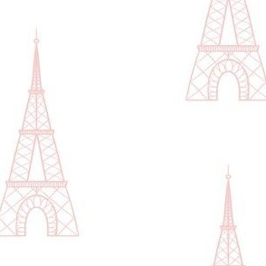 Simple Eiffel Tower - Pink