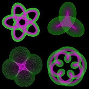 Spirograph: Green & Purple 4x9