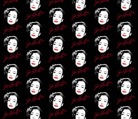 Signature Joan Crawford fabric by hollywood_royalty on Spoonflower - custom fabric