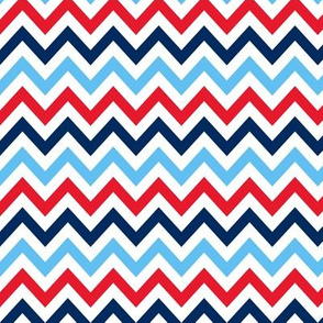 Blue and Red Chevron