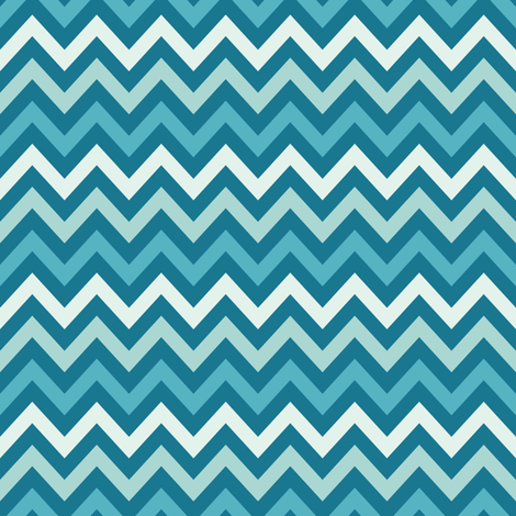Dark Blue Chevron- Anchors Coordinate fabric by forthelove on Spoonflower - custom fabric