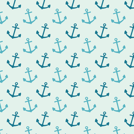 Light Blue Anchors fabric by forthelove on Spoonflower - custom fabric