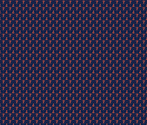 Anchor Me Orange and Blue Mini fabric by katrina_ward on Spoonflower - custom fabric