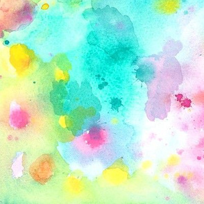 Abstract Spring Watercolors
