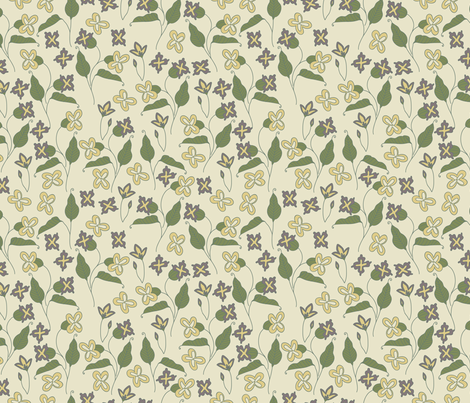 Everly Floral fabric by valeri_nick on Spoonflower - custom fabric