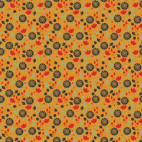 Bold Floral - yellow