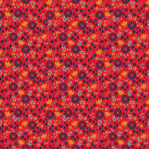 Bold Floral - red