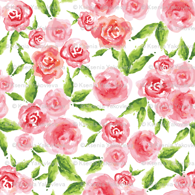 Whimsical Roses - WHITE