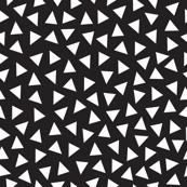 Postmodern Black + White Mini Triangle Toss