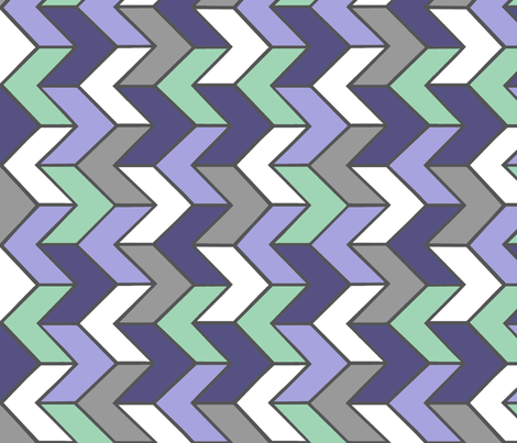 Purple Mint Grey Chevron fabric by sewluvin on Spoonflower - custom fabric