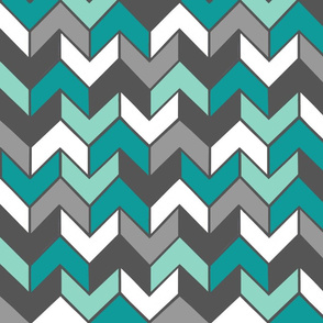 Teal Multi Chevron