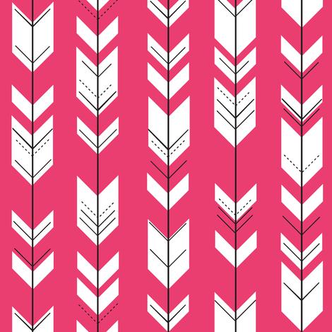 Fletching arrows (small scale) // melon fabric by littlearrowdesign on Spoonflower - custom fabric