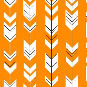 Fletching arrows // orange