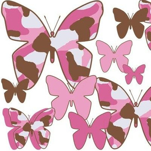 Pink Brown Camo Butterfly Camouglage