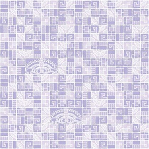 Five Tiles & Butterflies - lavender