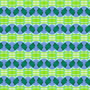 blue green wave