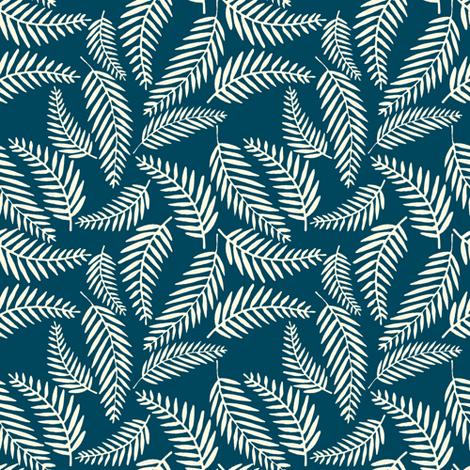 Ferns fabric by landpenguin on Spoonflower - custom fabric