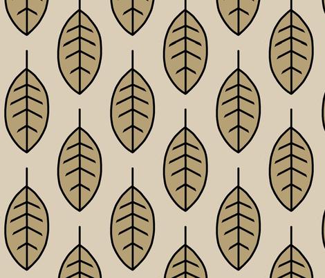 Leaves-cedar ridge fabric by sugarpinedesign on Spoonflower - custom fabric
