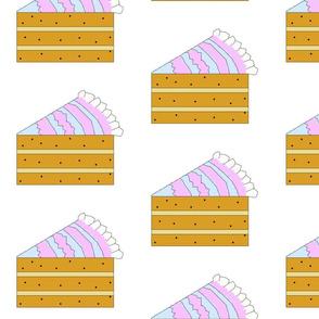 Cross stitch slice of cake