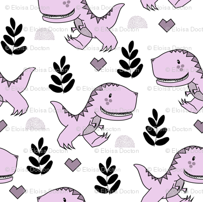 T-Rex Dinos in Purple