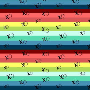 XO doodle Rainbow Splash -MEDIUM