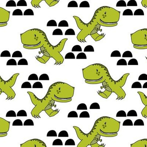 T-Rex Dinos in Green