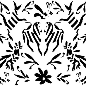 Black White Mexican Otomi Animals