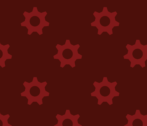 Dark Red Cogs fabric by denise_chukhina on Spoonflower - custom fabric