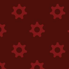Dark Red Cogs