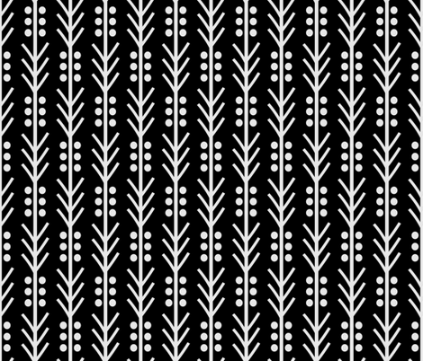 arrow_dot_black fabric by holli_zollinger on Spoonflower - custom fabric