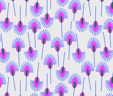 peacock_feather_pink fabric by holli_zollinger on Spoonflower - custom fabric
