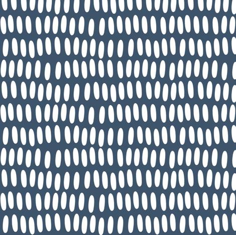 Prehistoric Confetti - Deep Blue fabric by natitys on Spoonflower - custom fabric