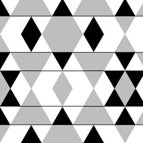 Gray Mini Argyle