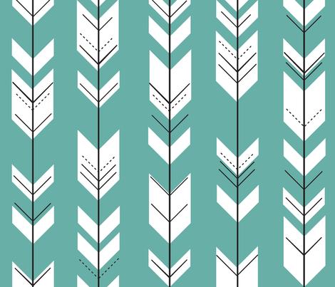 Fletching arrows // caribbean fabric by littlearrowdesign on Spoonflower - custom fabric