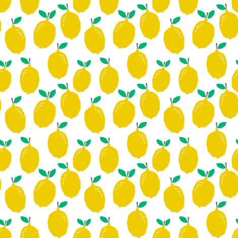 Summer lemon tropical citrus cute kids nursery baby fabric for Cute childrens fabric