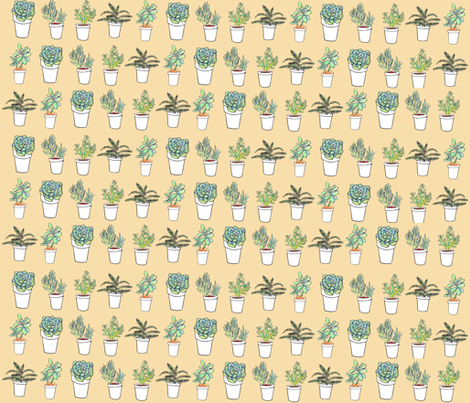 succulent plants fabric by lindseykatrina on Spoonflower - custom fabric