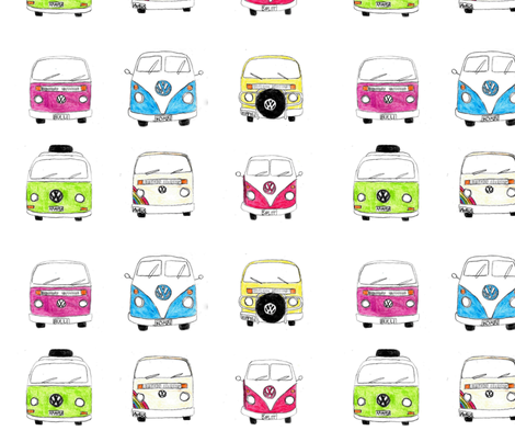 Kombi Kollektion fabric by blue_jacaranda on Spoonflower - custom fabric