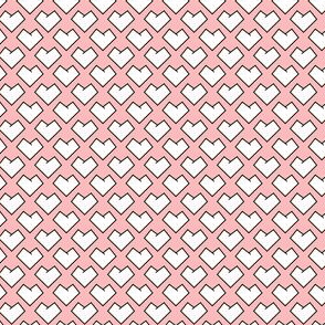 Pointy Hearts - Pink