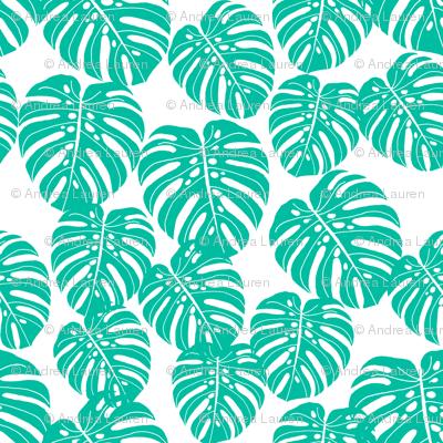 monstera // tropical exotic summer palm print trendy kids summer print