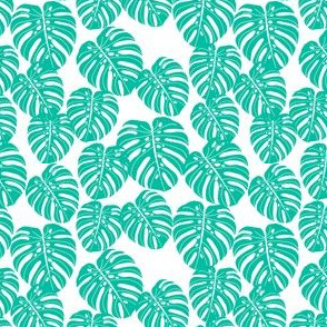 monstera // tropical exotic summer palm print trendy kids summer print