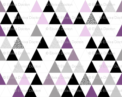 Faux Quilt in Purples