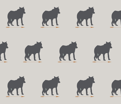 wolf_charcoal fabric by sproutz on Spoonflower - custom fabric