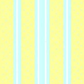 Dots 'n Stripes Sky & Butter