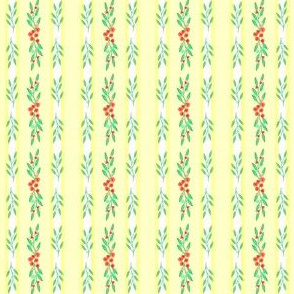 Watercolor Garland on Butter